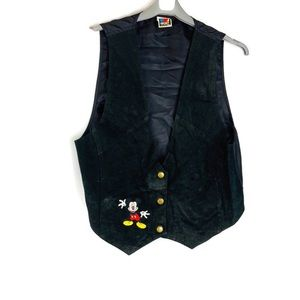 Vintage Mickey Unlimited Leather Suede Mickey Vest